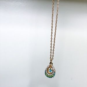 Peacock Gem goldtone necklace